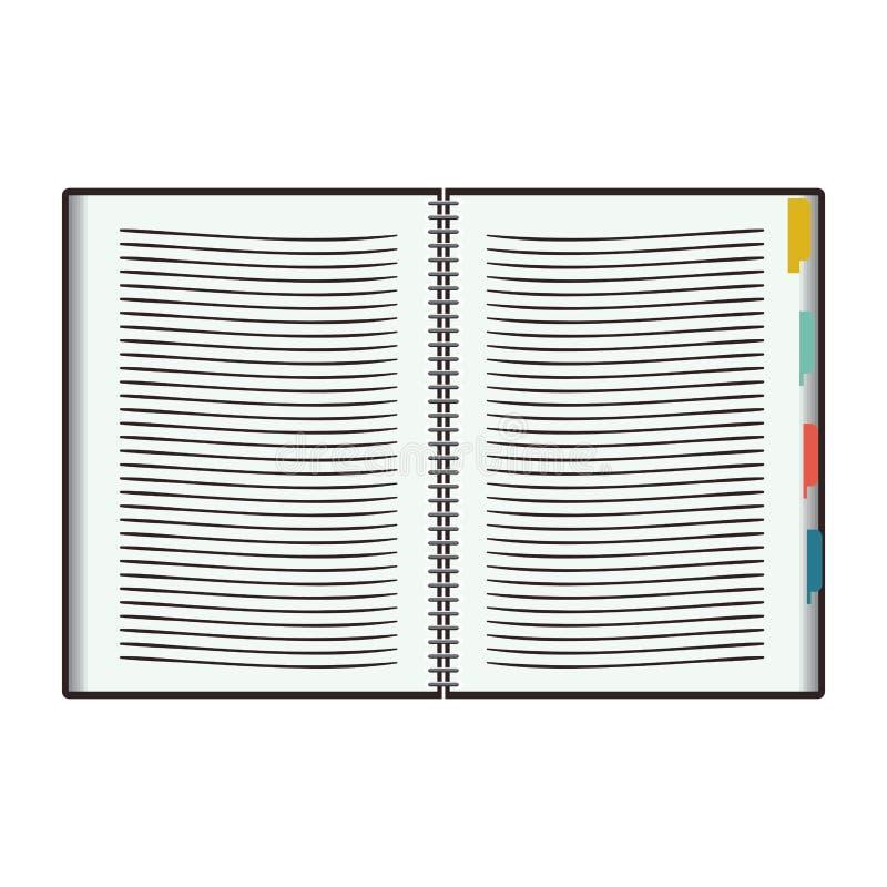 Notatnika projekt royalty ilustracja