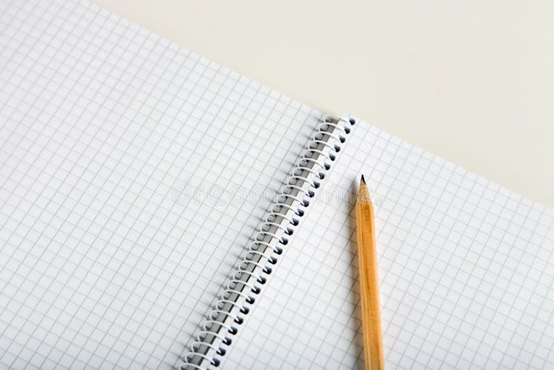 notatnika pusty ołówek zdjęcia stock