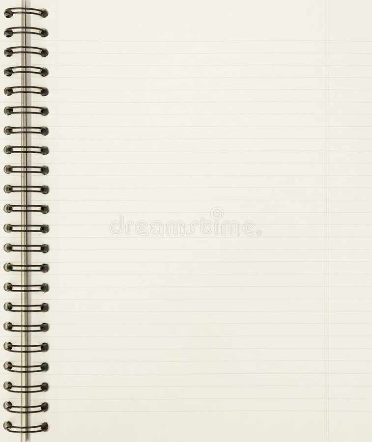 Notatnika pusty prześcieradło zdjęcia royalty free