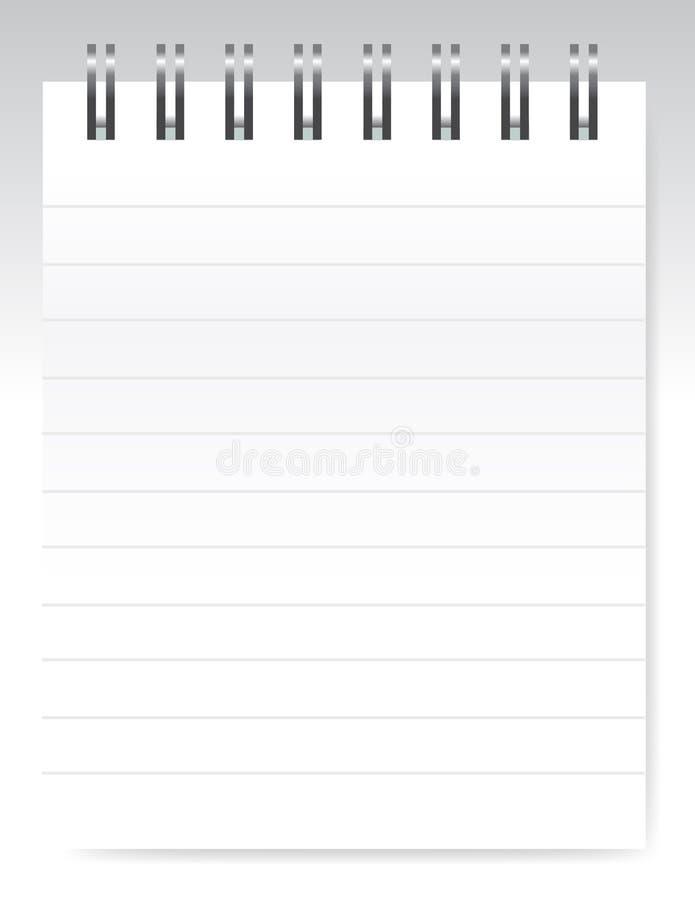 notatnika pusty wektor ilustracja wektor