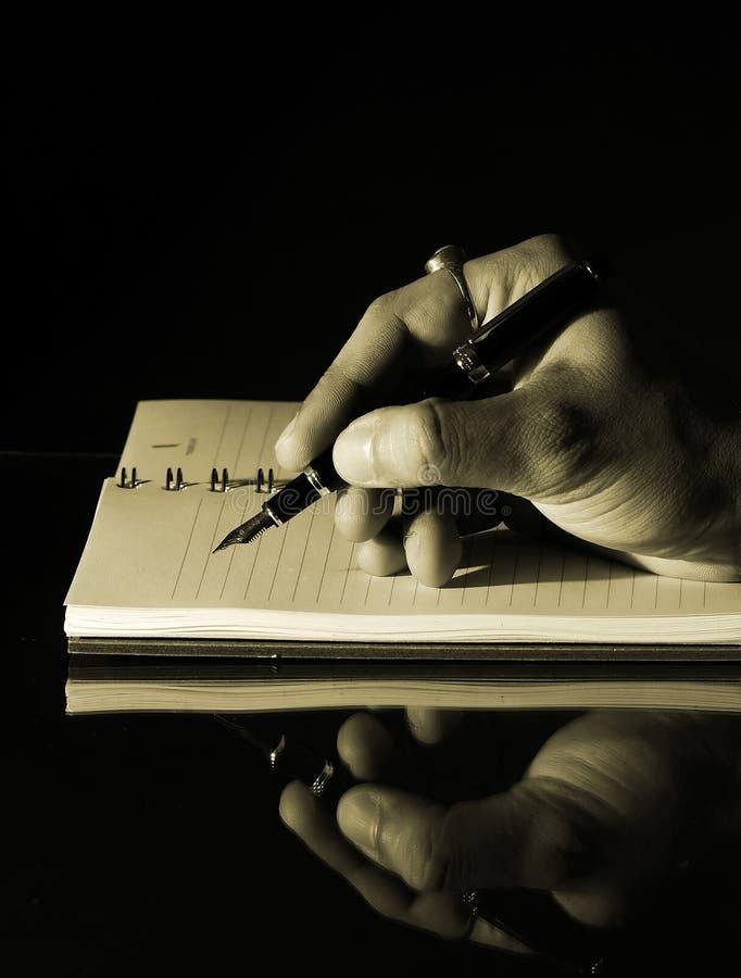 notatnika writing obrazy stock