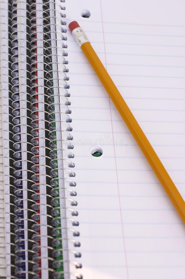 Notatniki i ołówek zdjęcie royalty free
