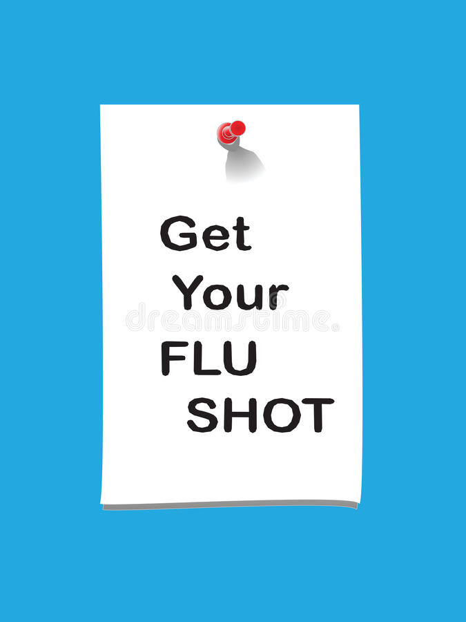 Note 2 de vaccin contre la grippe illustration stock