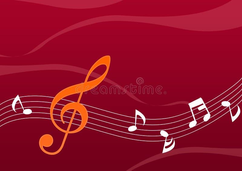 Note abstraite de musique illustration stock