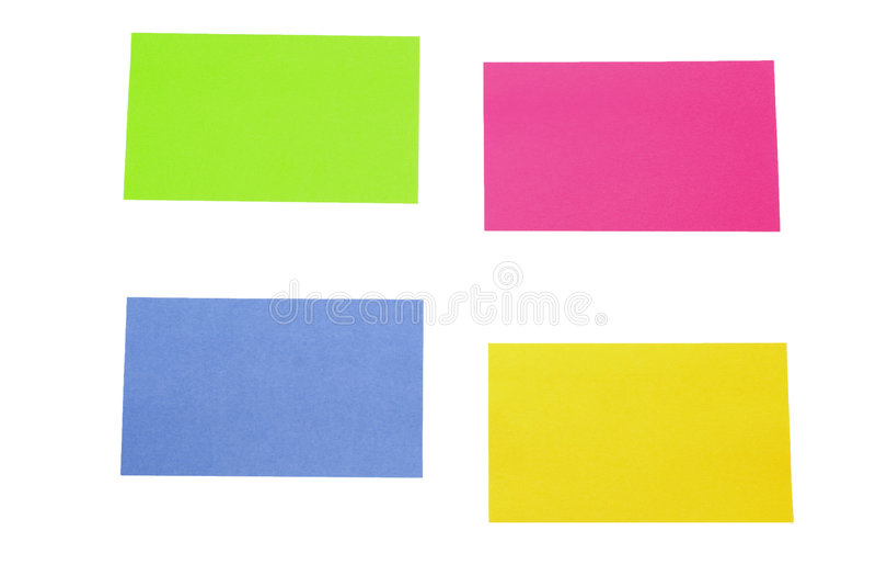 Note appiccicose fotografie stock