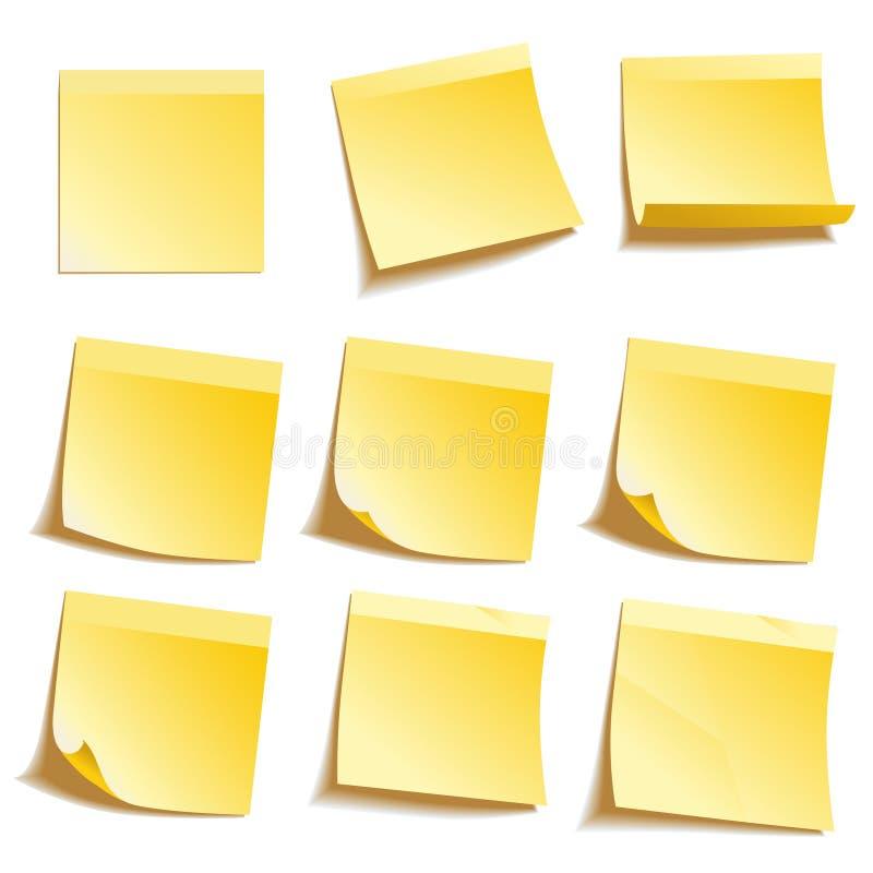 Note appiccicose gialle fotografia stock