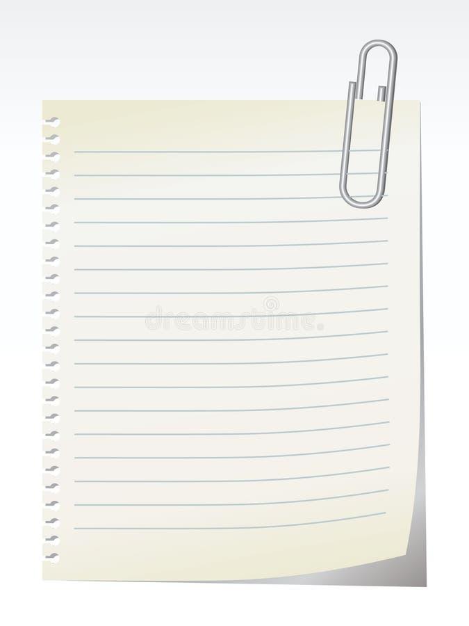 Note blanc - vecteur illustration libre de droits