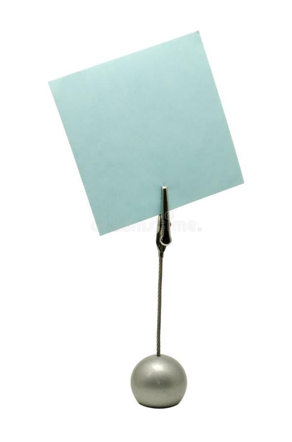 Note bleue image libre de droits