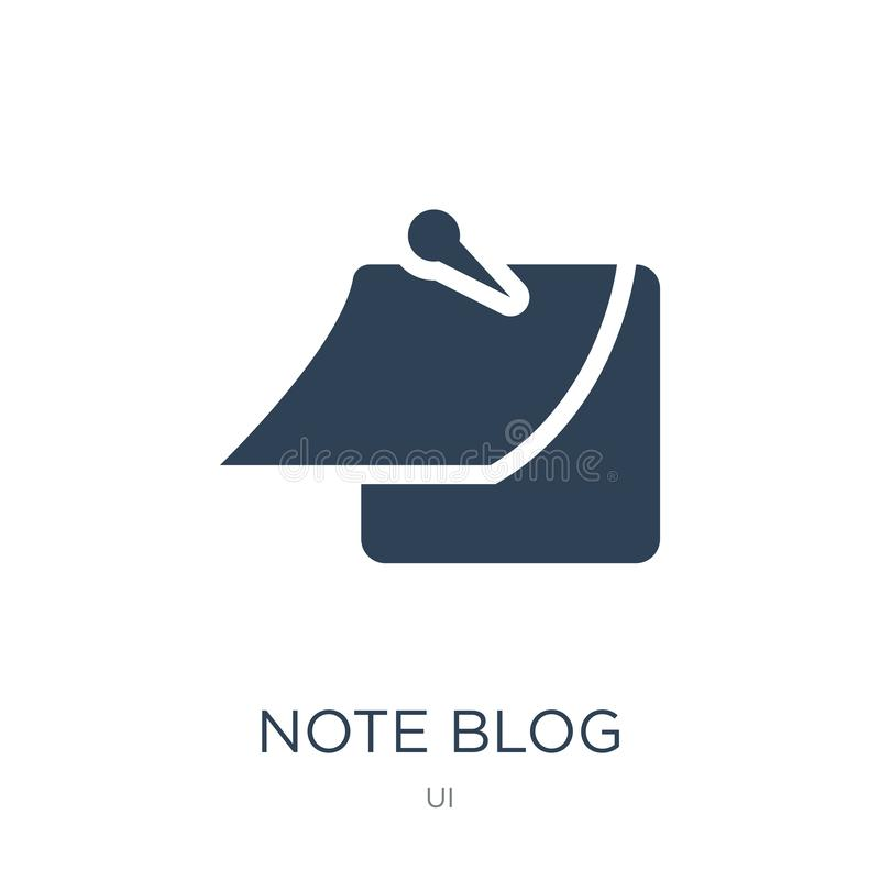 note blog icon in trendy design style. note blog icon isolated on white background. note blog vector icon simple and modern flat stock illustration