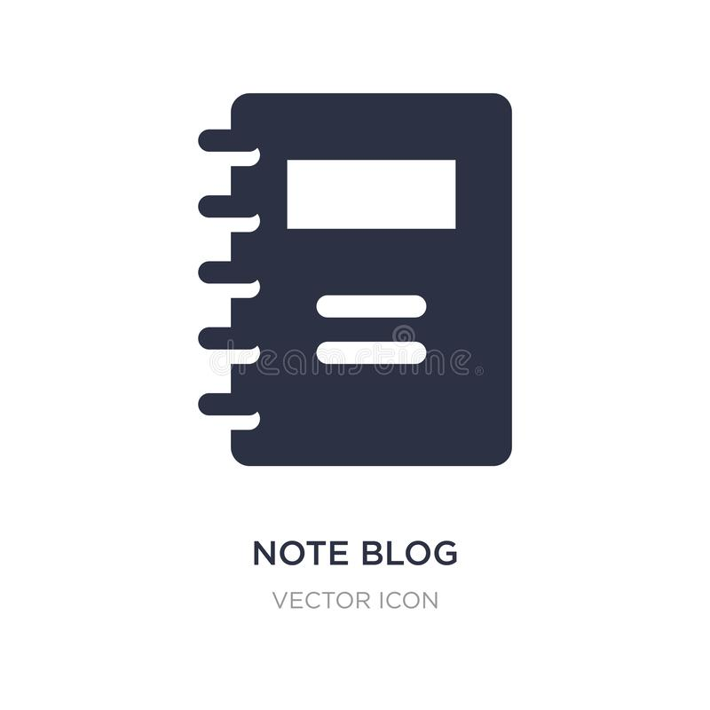 note blog icon on white background. Simple element illustration from UI concept royalty free illustration