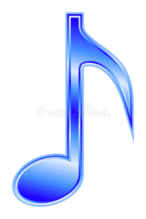 Download Note - blue stock vector. Image of chant, song, audio - 8545711