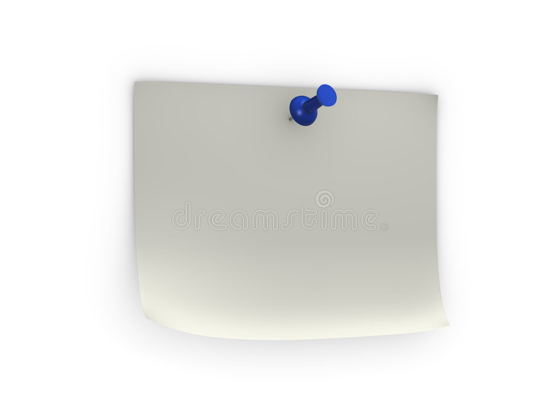 Download Note with blue pushpin stock photo. Image of paper, needle - 8239426
