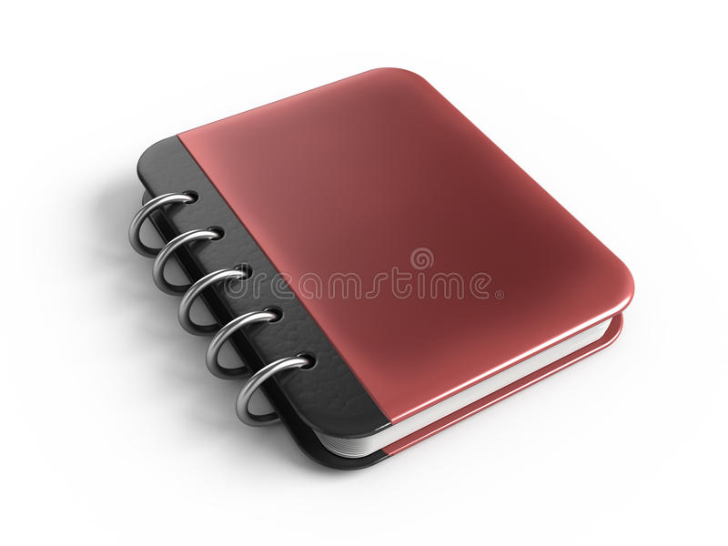Note book. 3d rendered icon stock illustration