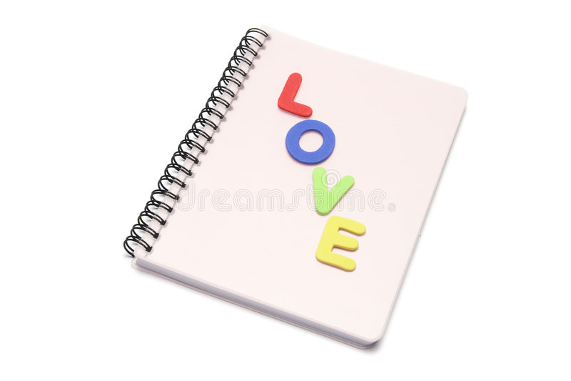 Note Book. On white background royalty free stock photos