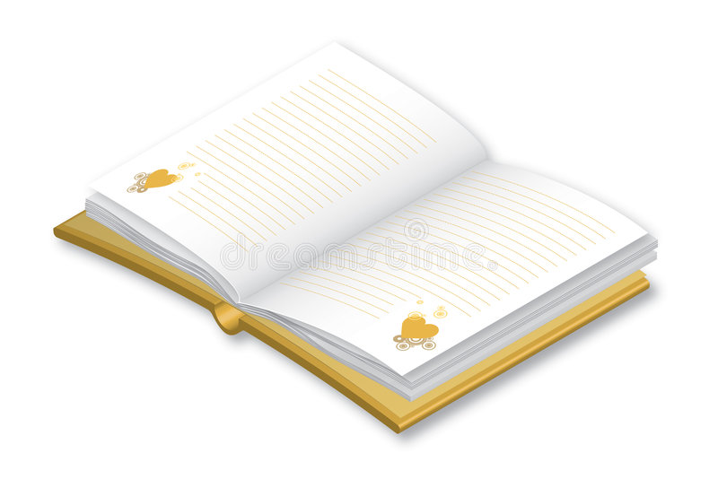 Note book stock illustration