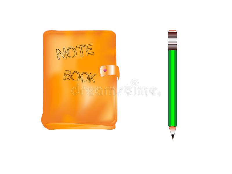 Download Note book and pen stock vector. Image of background, deal - 12205563