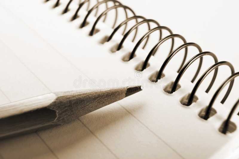 Download Note Book And Pencil Stock Photography - Image: 2444212