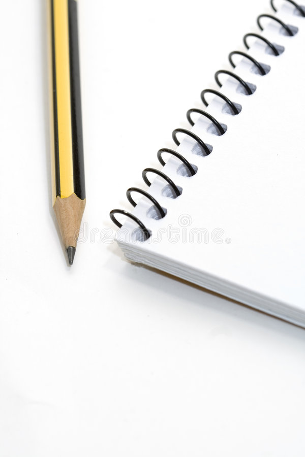 Download Note-book and pencil stock image. Image of diary, detail - 7639441