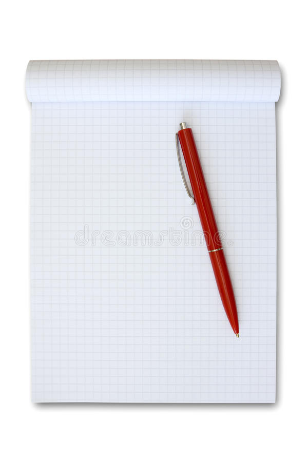 Download Note book with red pen. stock photo. Image of corporate - 19797438