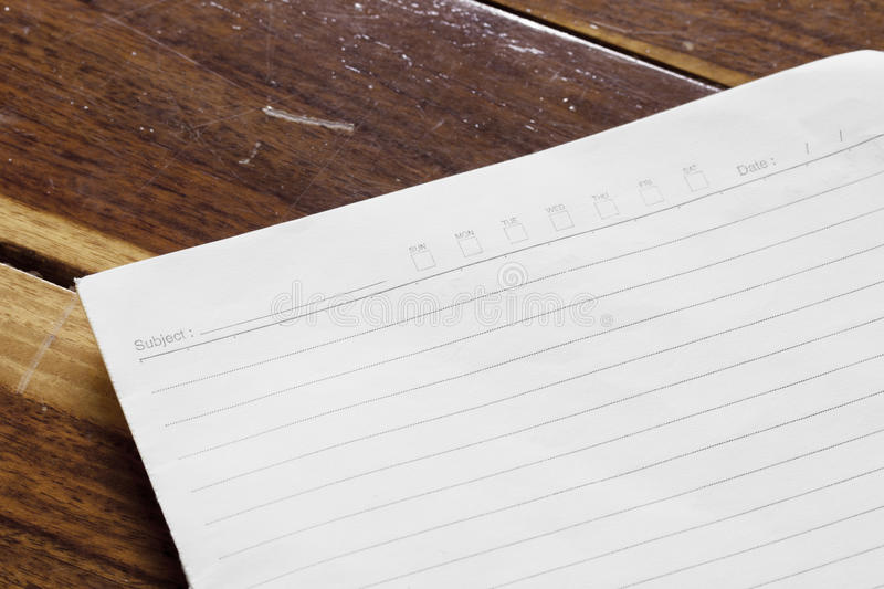 Download Note Book On Wooden Background Stock Photo - Image: 83708978