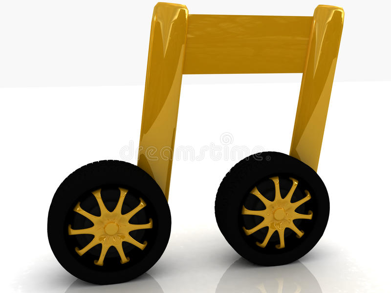 Note Is Car-wheel Stock Photography