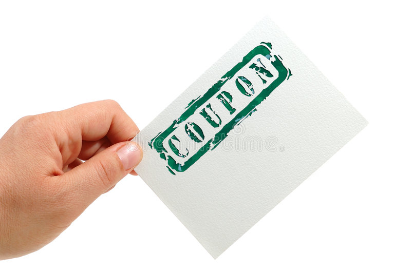 A note card. Hand hold a note card (business concept royalty free stock image