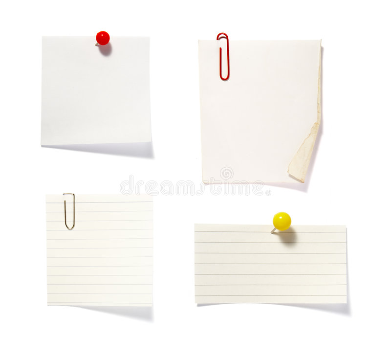 Free Note Clip Group 2 Royalty Free Stock Photos - 8200198