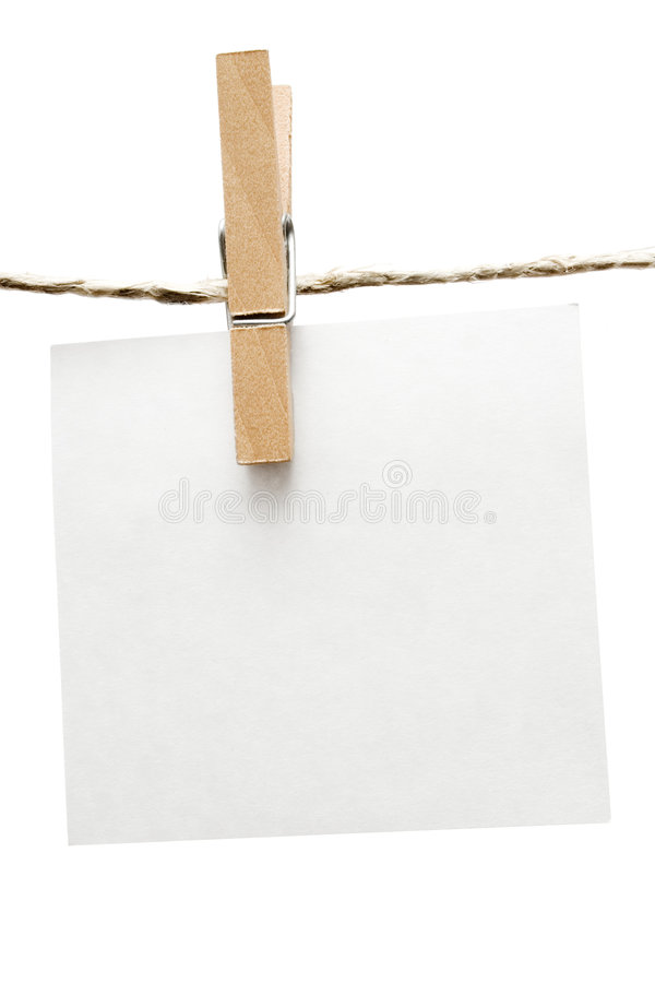 Download Note on Clothespin stock photo. Image of hang, communication - 2321226