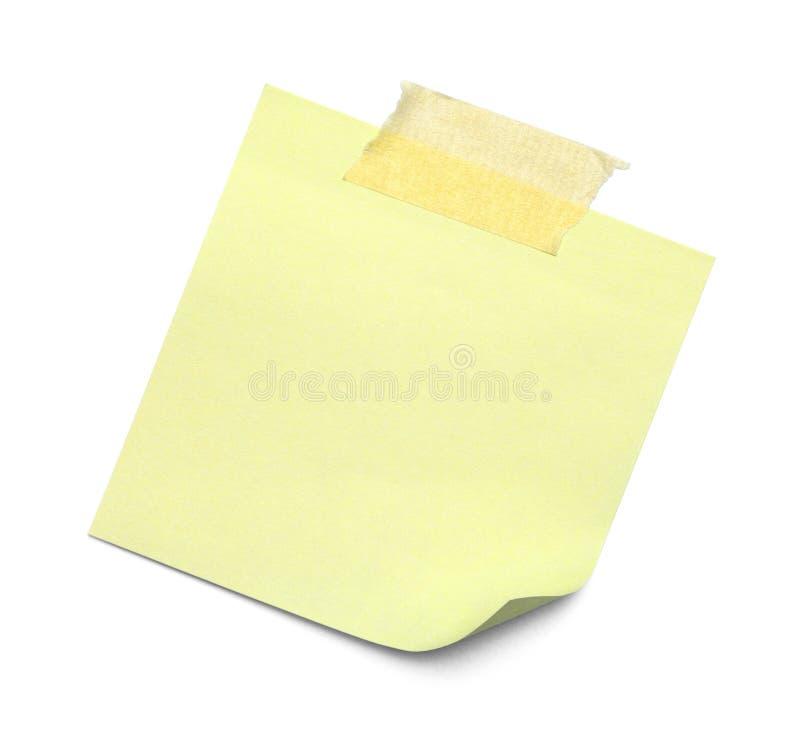 Note collante avec la bande image stock