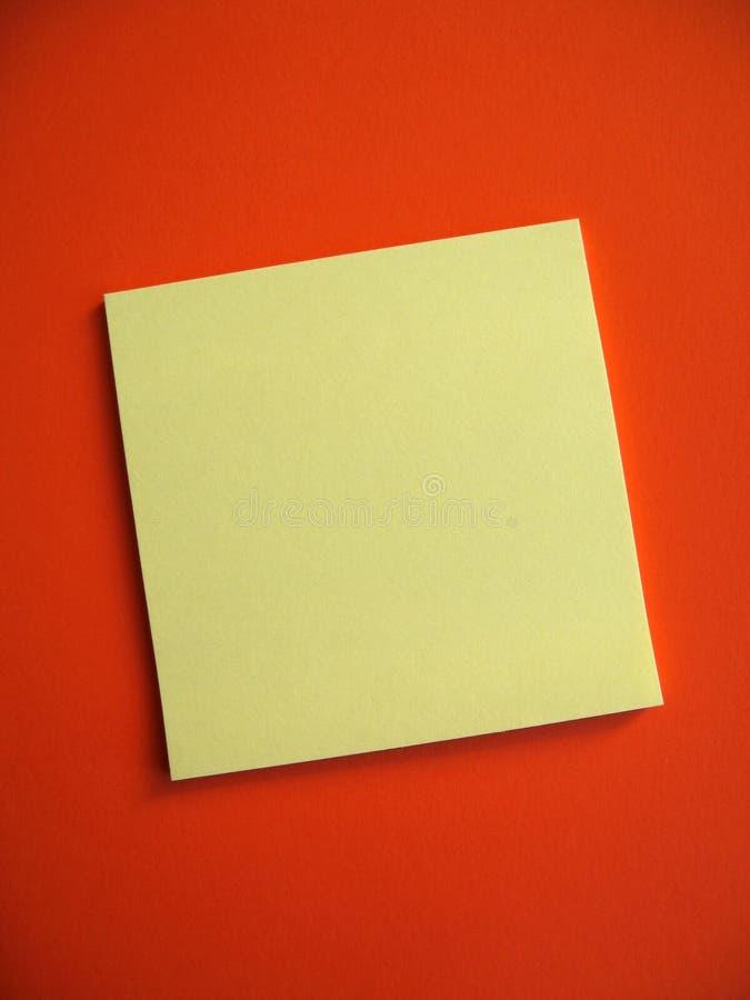 Note collante blanc photographie stock
