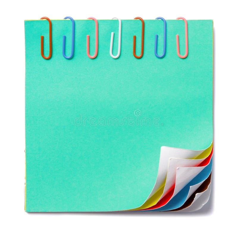 Note colorée photo libre de droits