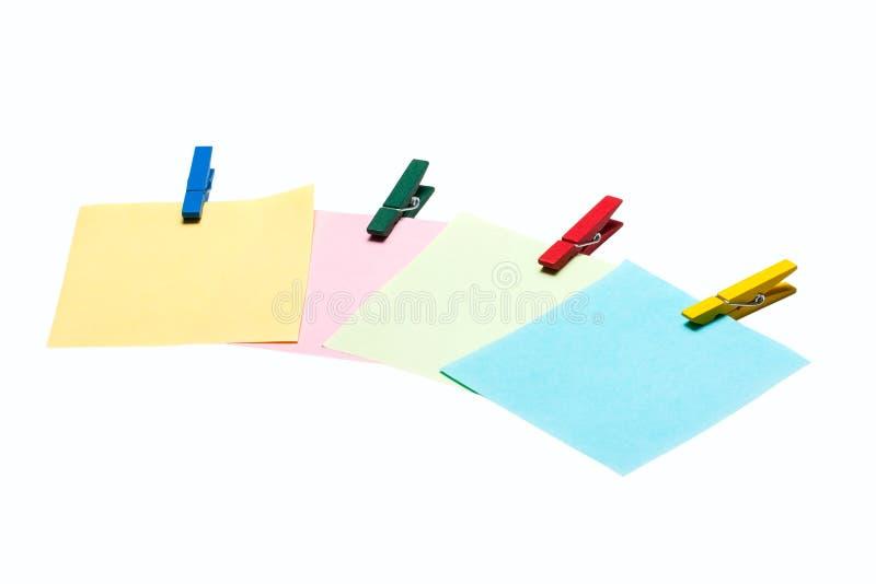 Note colorée de rappel photo libre de droits
