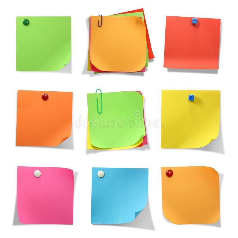 Note colorate immagine stock libera da diritti