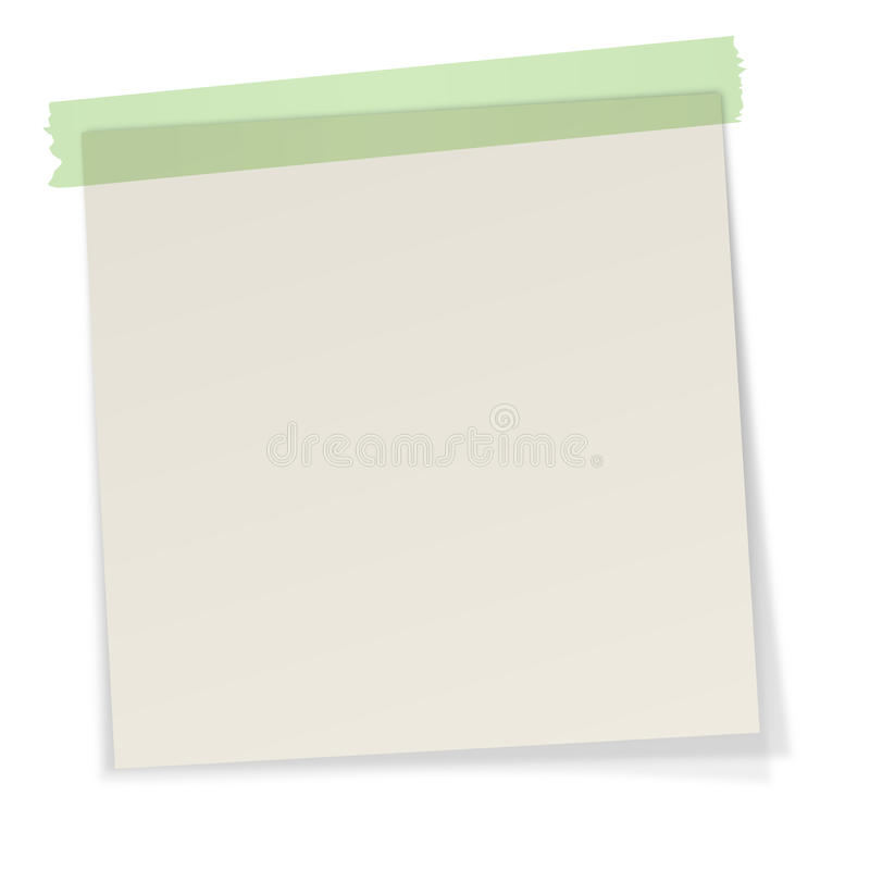 Note con nastro adesivo illustrazione vettoriale
