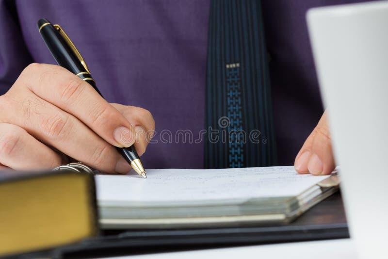 Note d'écriture photographie stock libre de droits