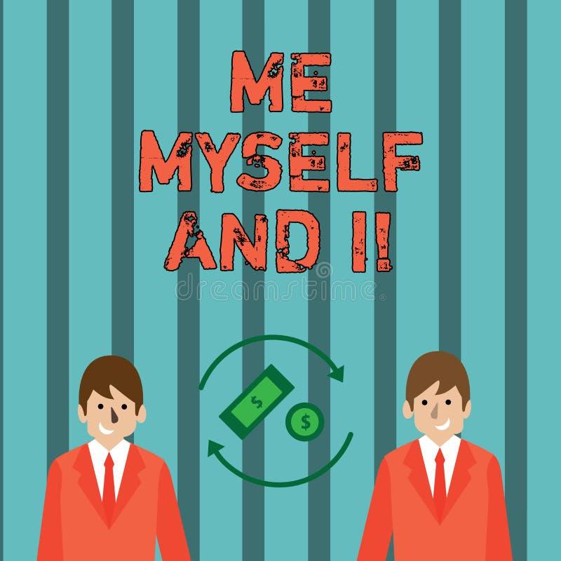 Note d'écriture me montrant moi-même et I Photo d'affaires présentant la responsabilité de prise selfindependent égoïste des acti illustration stock