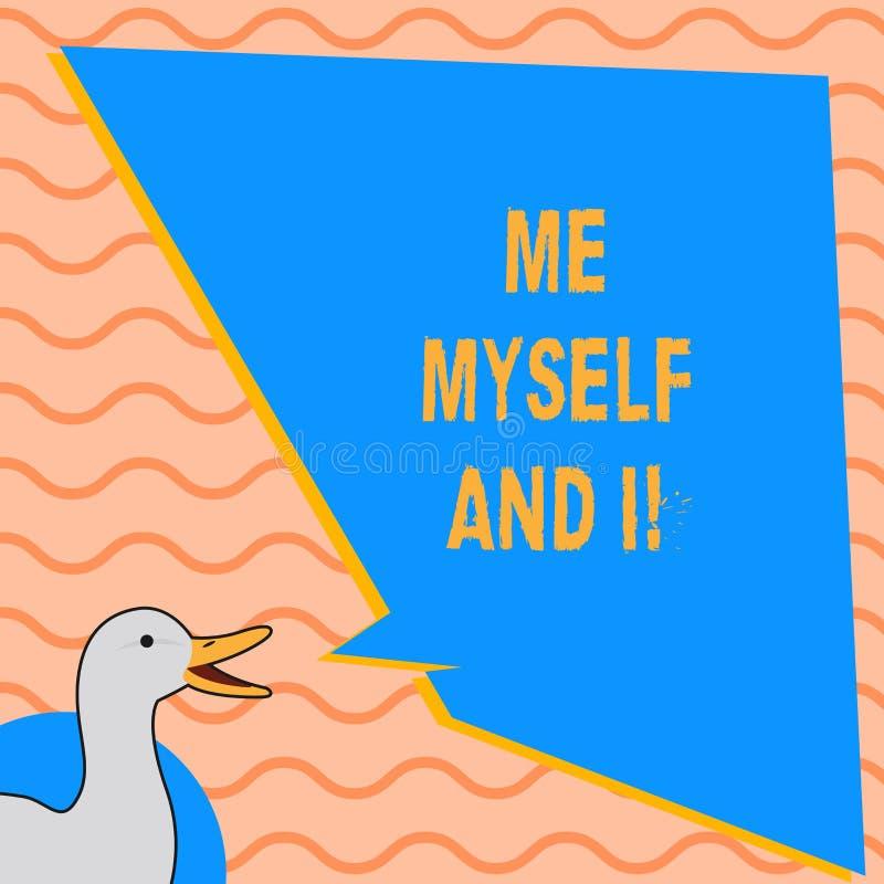 Note d'écriture me montrant moi-même et I Photo d'affaires présentant la responsabilité de prise selfindependent égoïste des acti illustration libre de droits