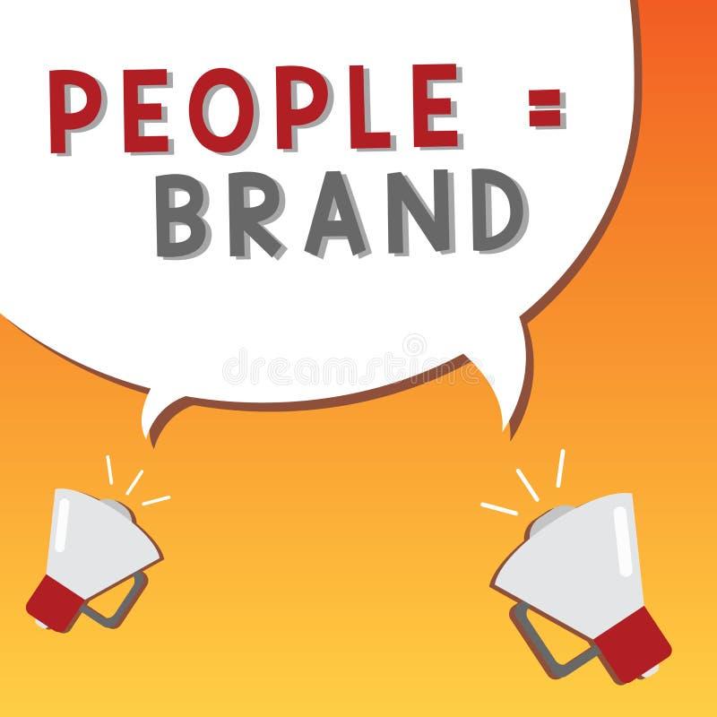 Note d'écriture montrant aux gens la marque égale Photo d'affaires présentant la personnalité de définition de marquage à chaud p illustration stock