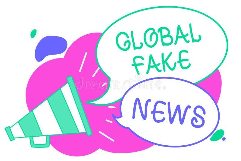 Note d'écriture montrant de fausses actualités globales Photo d'affaires présentant le canular faux de désinformation de mensonge illustration de vecteur