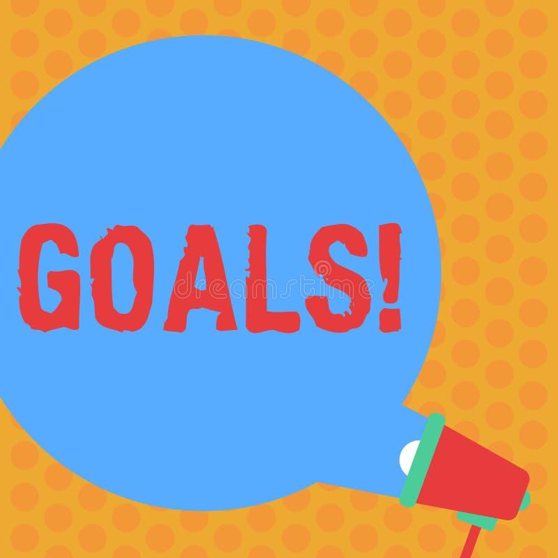 Note d'écriture montrant des buts La photo d'affaires présentant des accomplissements désirés vise ce que vous voulez pour accomp photo stock