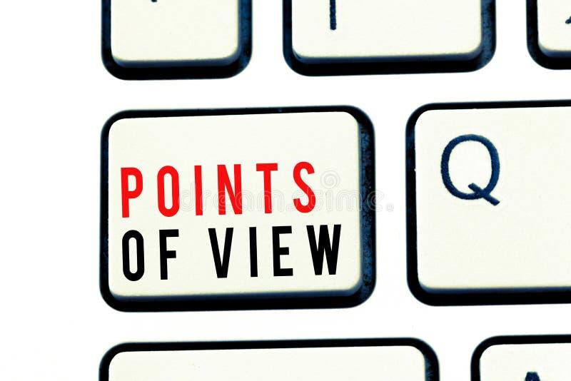 Note d'écriture montrant des points de vue Analyse de présentation d'évaluation d'opinion d'interprétation de photo d'affaires d' image libre de droits