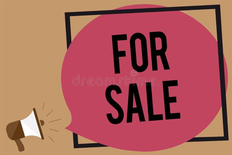 Note d'écriture montrant en vente Photo d'affaires présentant mettant le véhicule de maison de propriété disponible pour être ach illustration stock