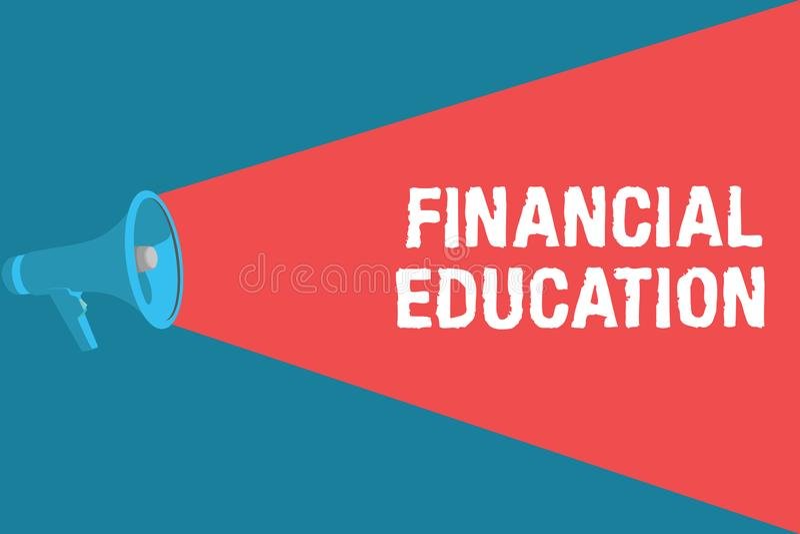 Note d'écriture montrant l'éducation financière Secteurs monétaires de compréhension de présentation de photo d'affaires comme de illustration libre de droits