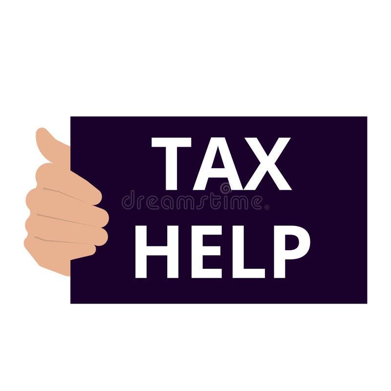 Note d'écriture montrant l'aide d'impôts illustration de vecteur