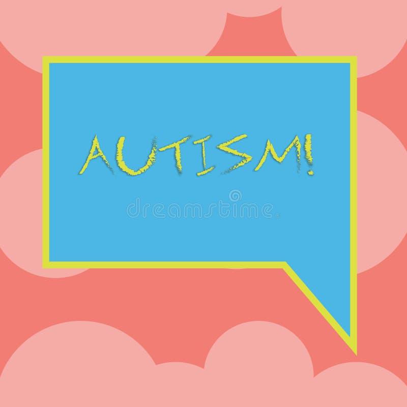 Note d'écriture montrant l'autisme Conscience de présentation d'autisme de photo d'affaires conduite par le comité social dans le illustration de vecteur