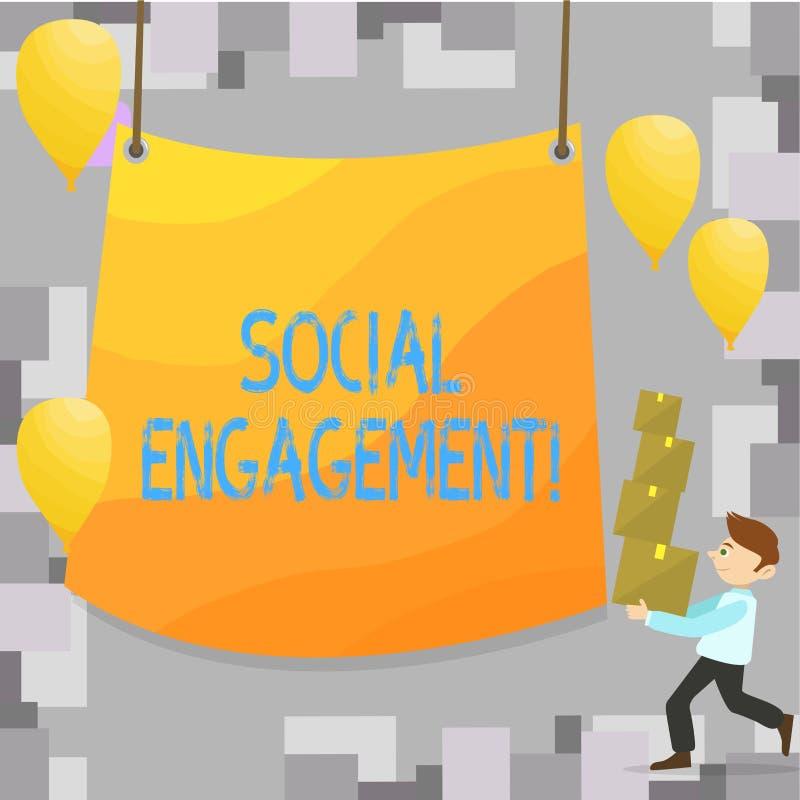 Note d'écriture montrant l'engagement social Le courrier de présentation de photo d'affaires obtient de hautes annonces SEO Adver illustration de vecteur