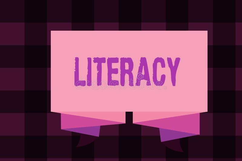 Note d'écriture montrant l'instruction Capacité de présentation de photo d'affaires de lire et écrire la compétence ou la connais illustration libre de droits