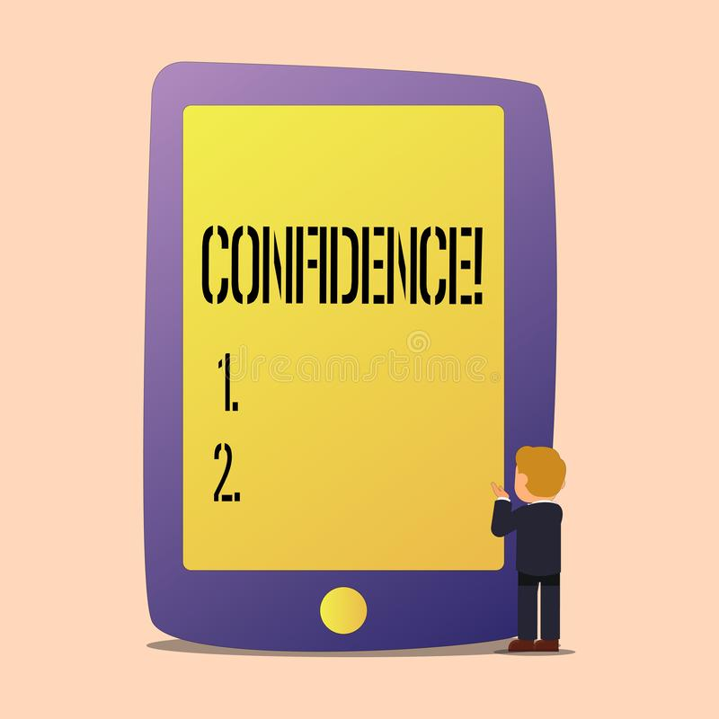 Note d'écriture montrant la confiance La photo d'affaires présentant douter jamais jamais de votre valeur, inspirent et se transf illustration stock