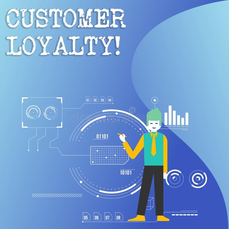 Note d'écriture montrant la fidélité de client Confiance à long terme de présentation de relation de satisfaction de client de ph illustration de vecteur