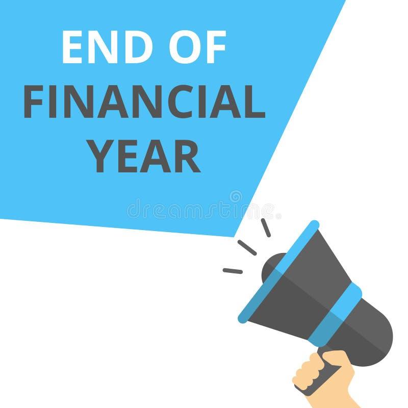 Note d'écriture montrant la fin de l'exercice budgétaire illustration stock